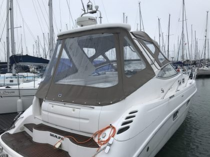 "Sealine S34 ""Easy Does It"", Replacement Cockpit Canopies, rear view 3"