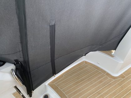 Jeanneau Cap Camarat 10.5 WA, Cockpit Enclosure fitted to Tecsew Hardtop Enclosure interior 7