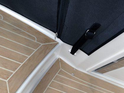 Jeanneau Cap Camarat 10.5 WA, Cockpit Enclosure fitted to Tecsew Hardtop Enclosure interior 3