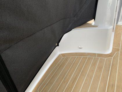 Jeanneau Cap Camarat 10.5 WA, Cockpit Enclosure fitted to Tecsew Hardtop Enclosure interior 2