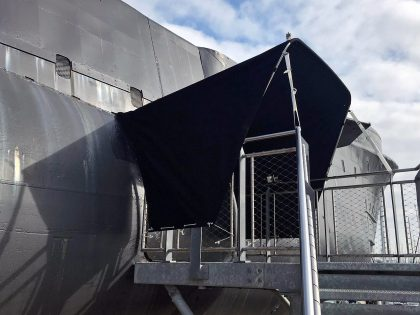 Submarine Entrance Canopies, HMS Alliance right side view