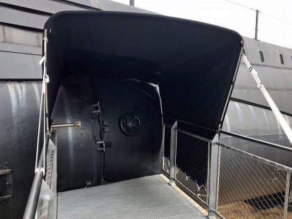 Submarine Entrance Canopies, HMS Alliance front 2